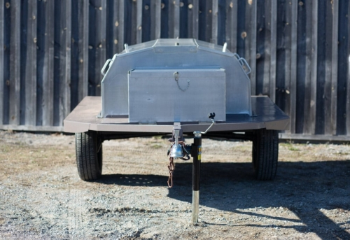 Front View of a HERB Rotisserie Barbecue Rental